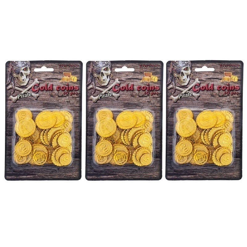 Piraten munten goud 150 stuks