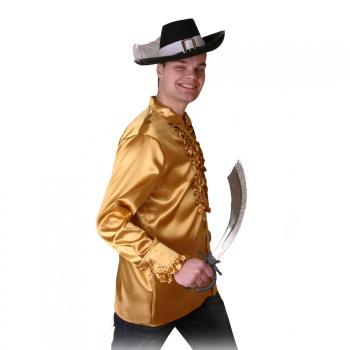 Piraten outfit gouden heren overhemd