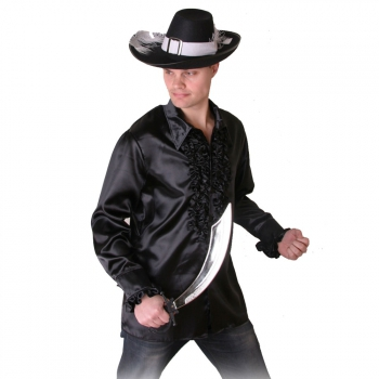 Piraten outfit zwart heren overhemd