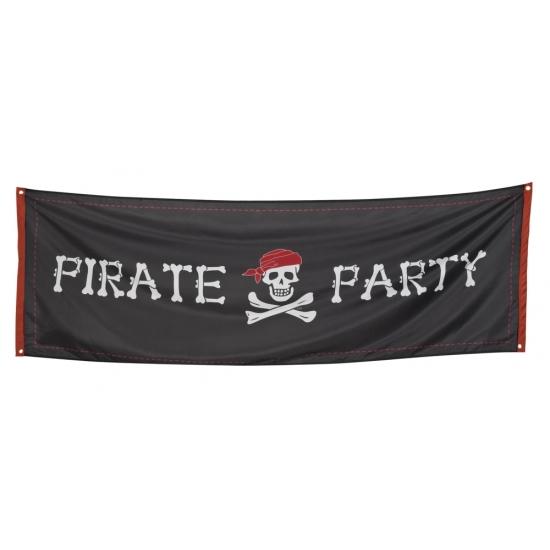 Piraten versiering banner 74 x 220 cm
