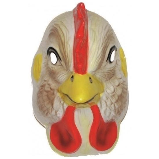 Plastic kippen masker voor volwassenen