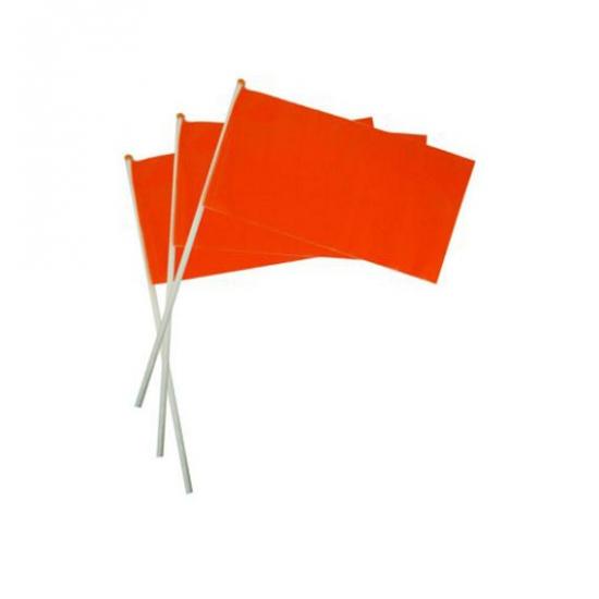 Plastic zwaaivlaggetje oranje