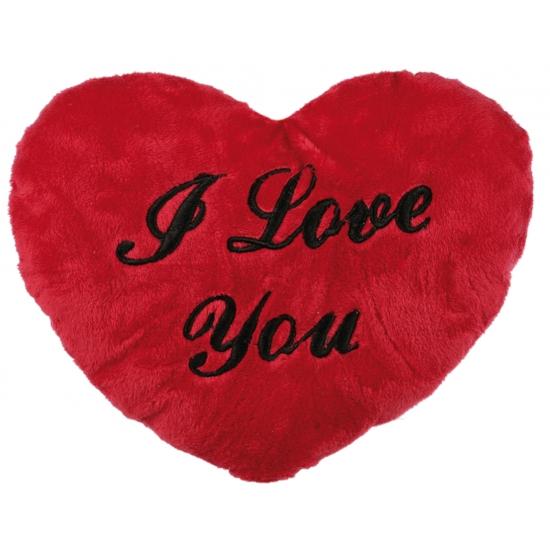Pluche I Love You kussen 35 cm