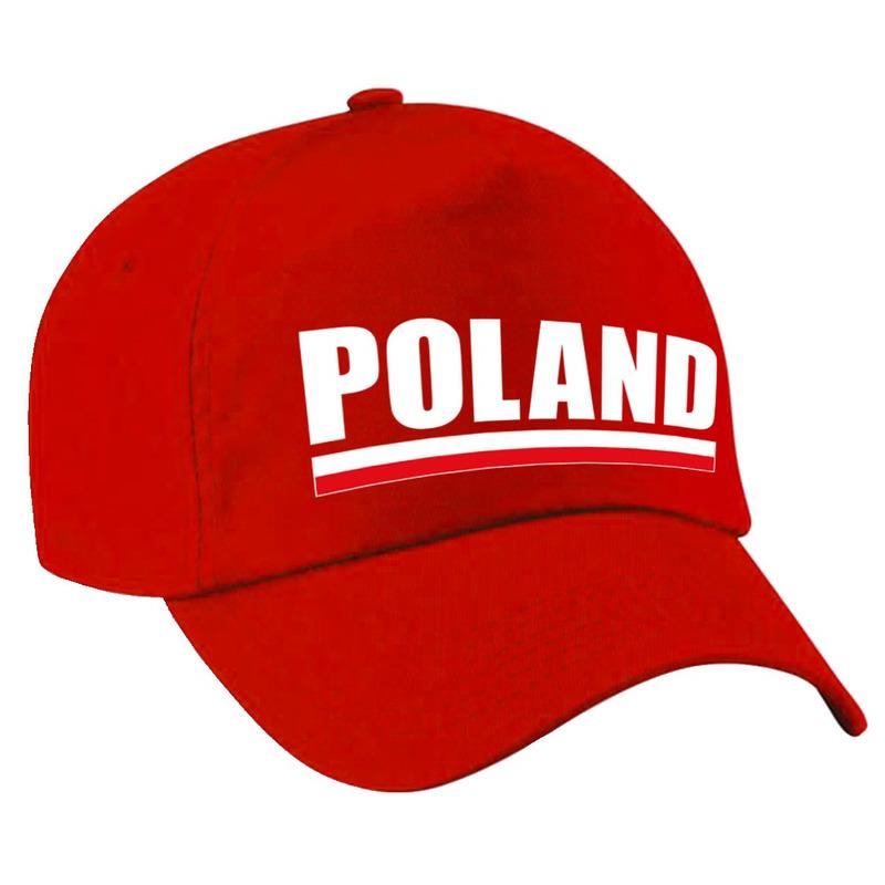 Poland supporter pet - cap Polen rood volwassenen