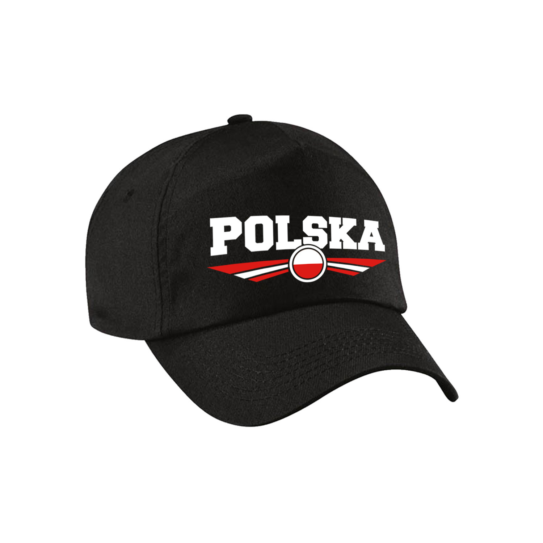 Polen - Polska landen pet - baseball cap zwart kinderen
