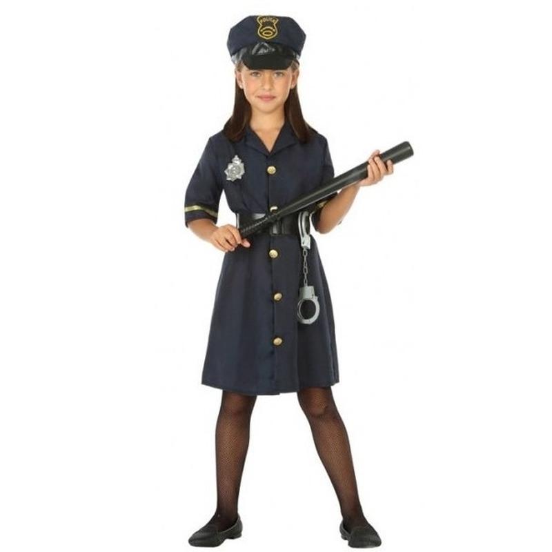 Politie agente verkleed jurk/jurkje voor meisjes