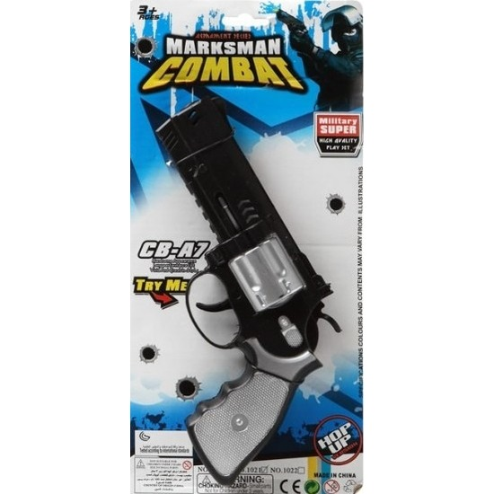 Politie/militair speelgoed pistool 35 cm