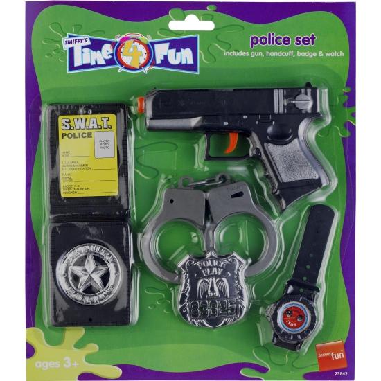 Politie speelgoed verkleed set 5-delig voor kinderen