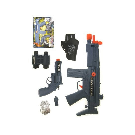 Politie verkleed accessoires set incl. wapens