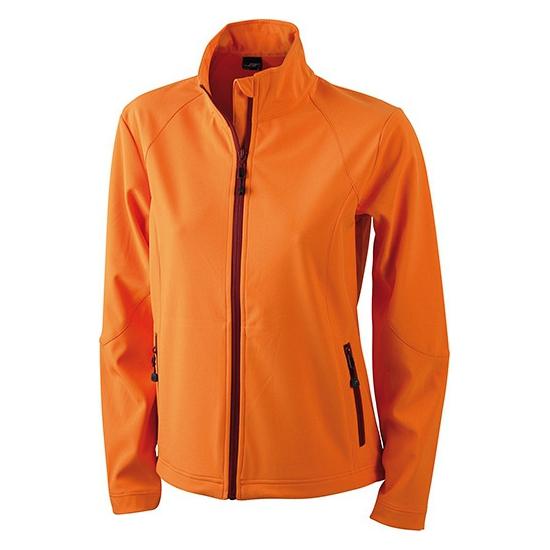 Polyester dames jack oranje