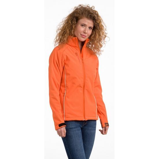 Polyester damesjack oranje