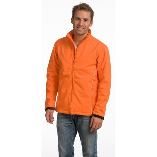 Polyester herenjack oranje