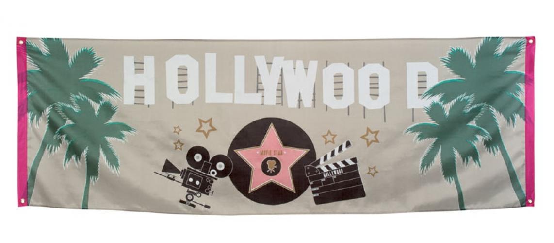 Polyester Hollywood vlaggen 74 x 220 cm