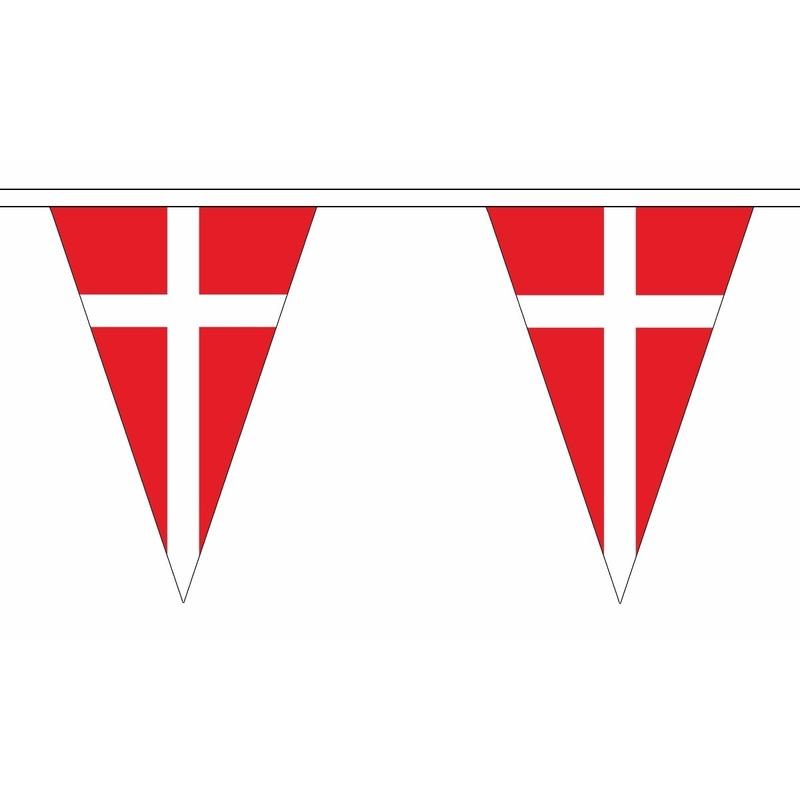 Polyester vlaggenlijn Denemarken 5 meter
