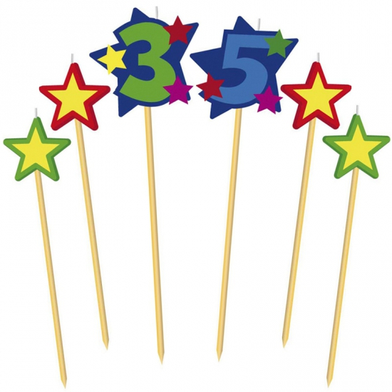 Prikker kaarsje cijfer 35