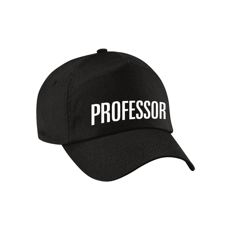 Professor verkleed pet zwart volwassenen