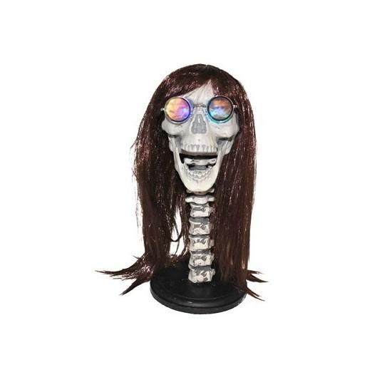 Pruikenhouder skelet met licht 43 cm