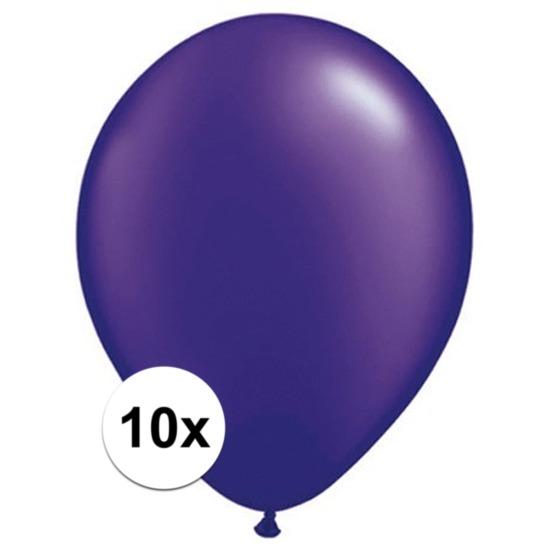 Qualatex ballonnen parel paars 10 stuks