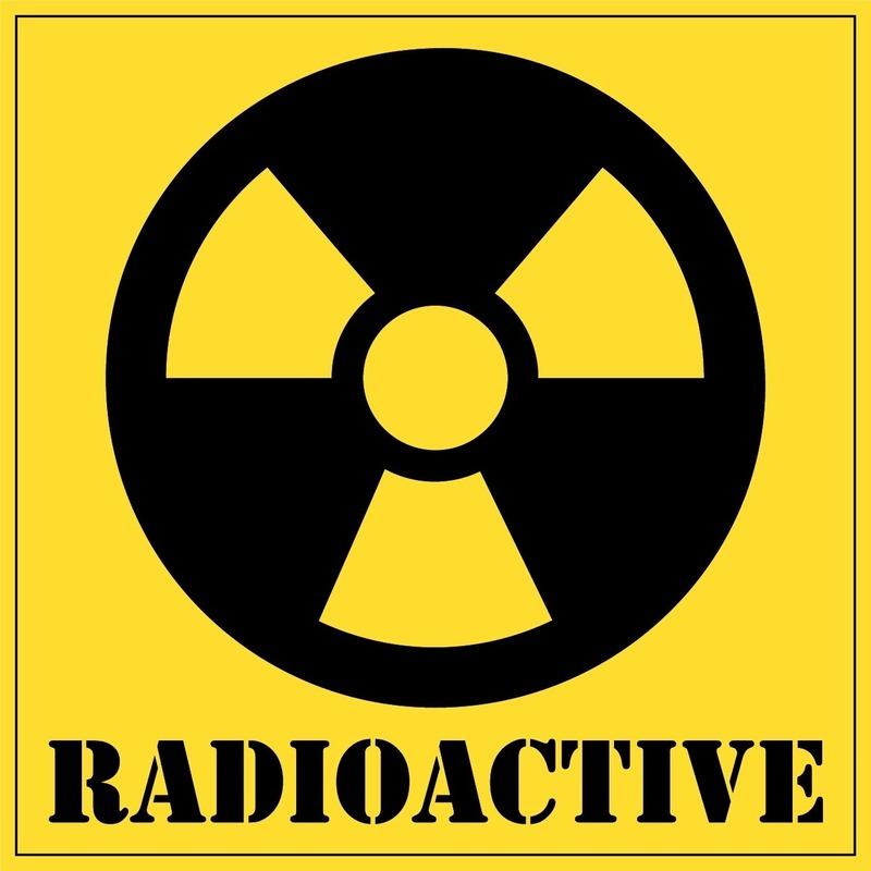 Radioactive gevaren sticker 10,5 cm