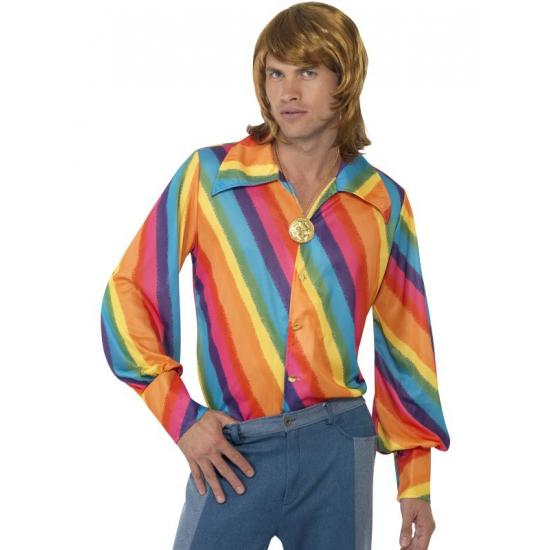 Regenboog 70s shirt