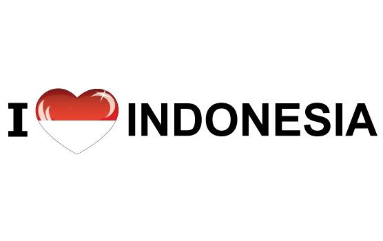 Reiskoffer sticker I Love Indonesia