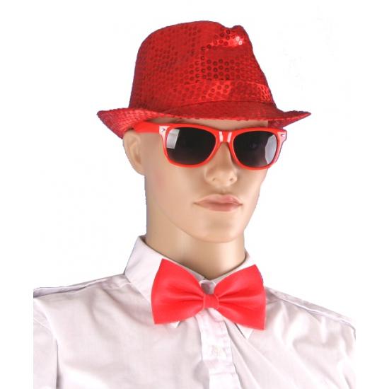 Rode accessoires kit voor volwassenen