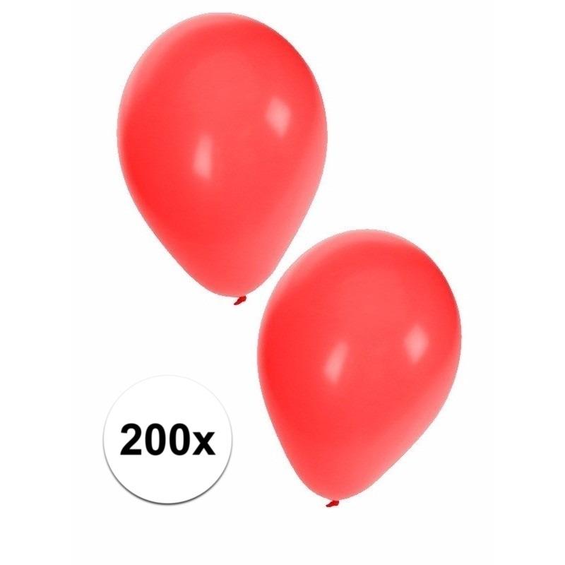 Rode ballonnen 200 stuks