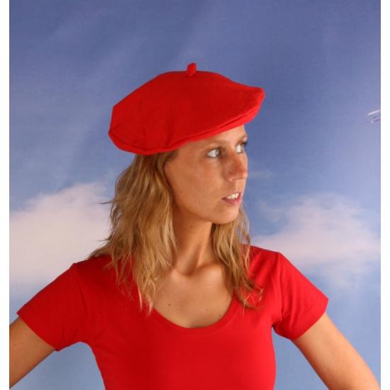 Rode baret hoeden voor dames