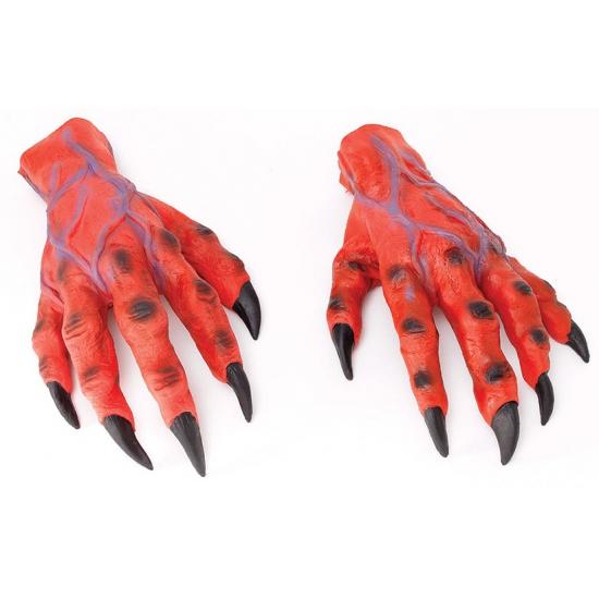 Rode duivel horror handen
