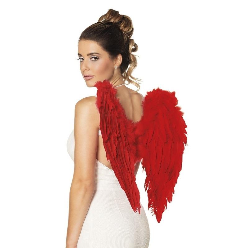 Rode engelen/duivel vleugels 50 cm