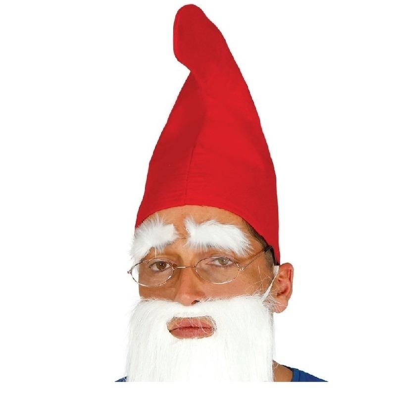 Merkloos Rode kabouter/dwergen verkleed puntmutsen voor volwassenen
