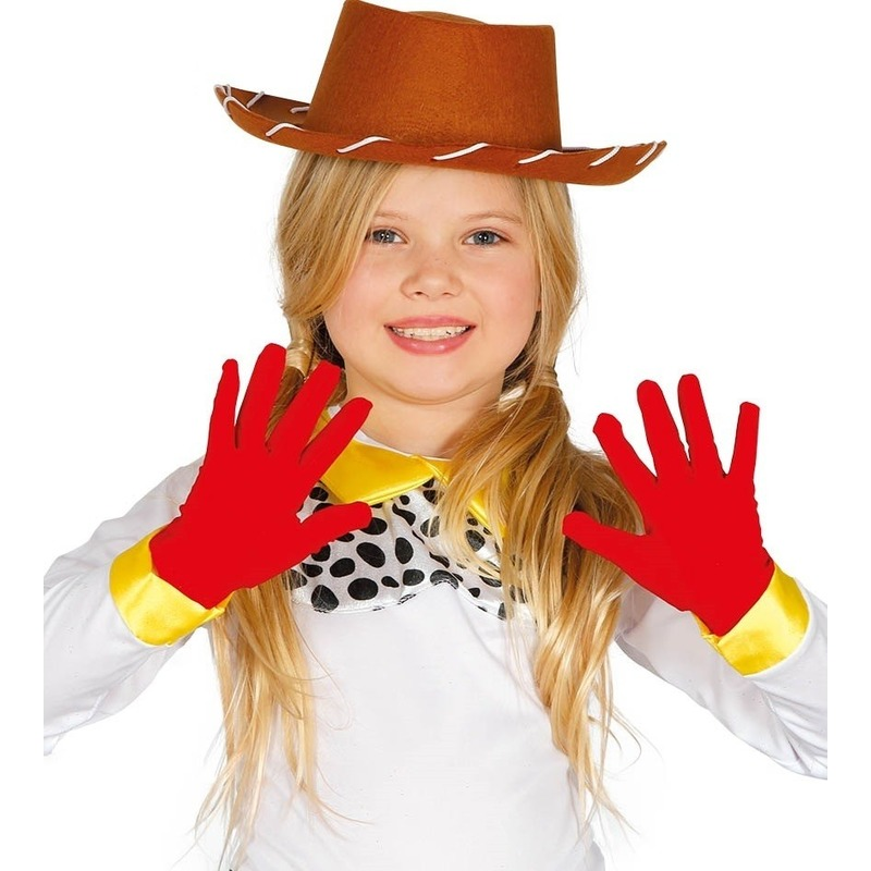 Rode verkleed handschoenen voor kinderen