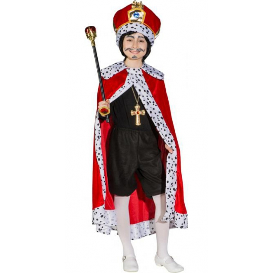 Rode verkleedkleding konings mantel voor kinderen