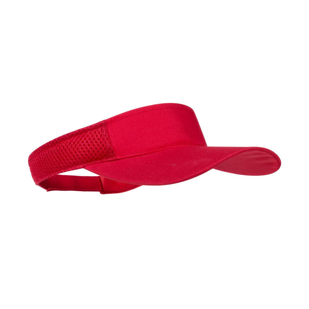 Rode zonneklep pet voor volwassenen