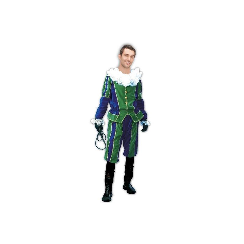 Merkloos Roetveeg Pieten kostuum groen/blauw voor dames en heren