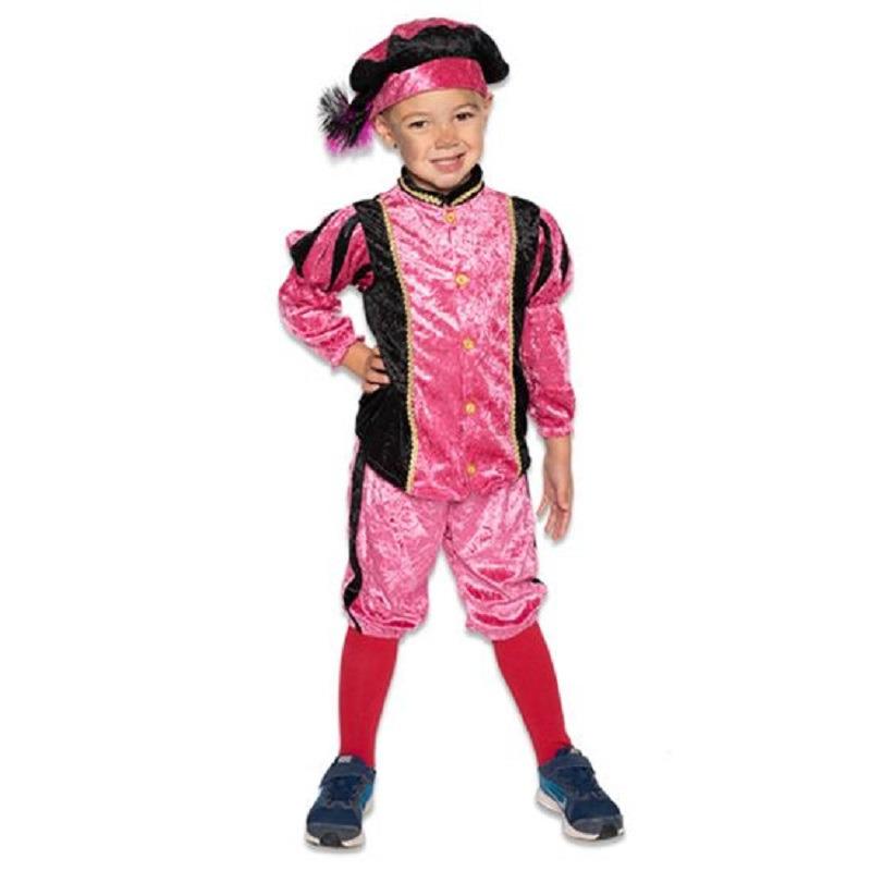 Merkloos Roetveeg Pieten kostuum roze/zwart voor kinderen