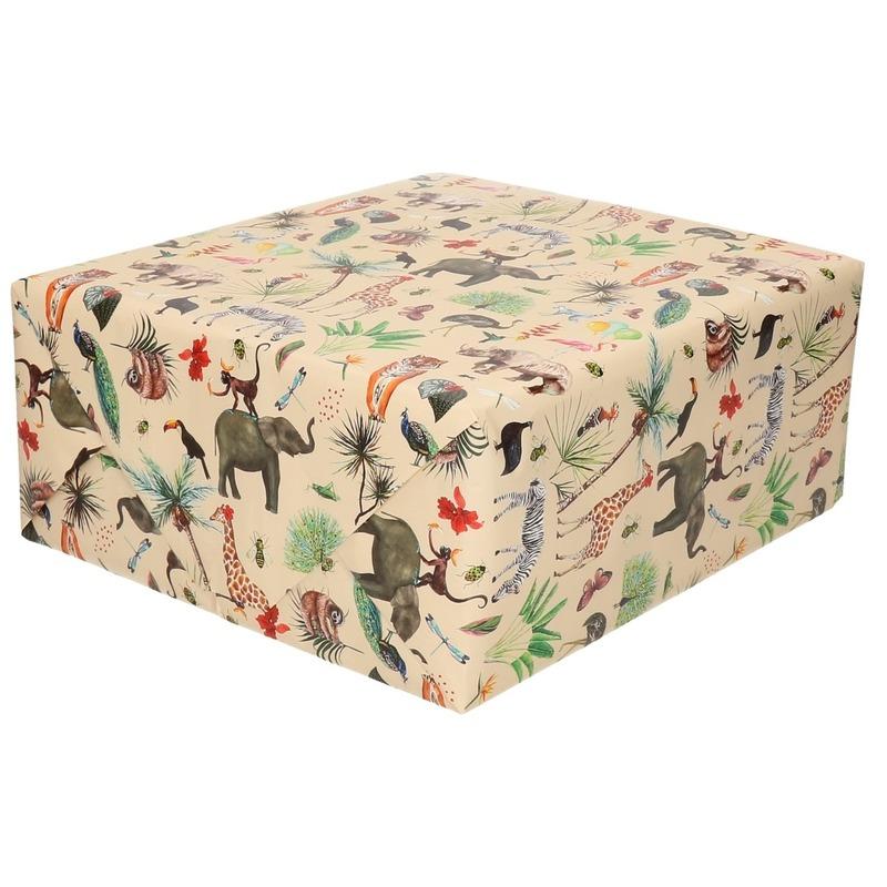 Rollen Inpakpapier/cadeaupapier jungle thema 300 x 70 cm