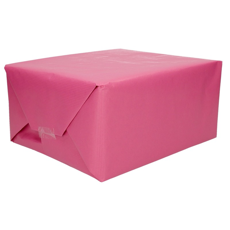 Rollen Kraft inpakpapier roze 200 x 70 cm