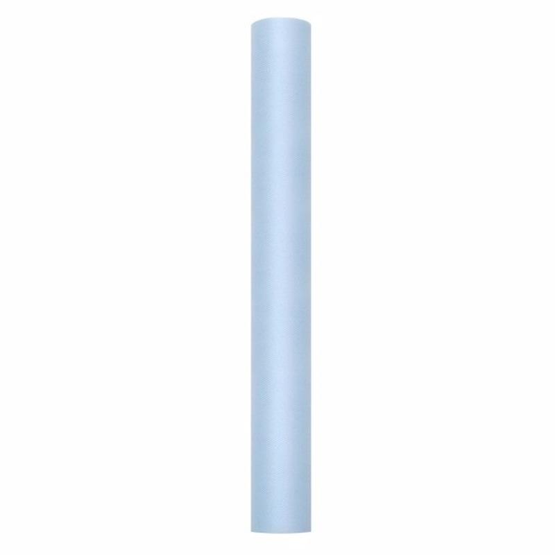 Rollen Tule deco stof lichtblauw 50 cm breed