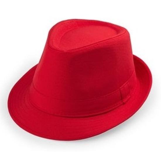 Rood Al Capone hoedje voor volwassenen