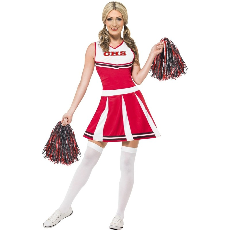 Rood cheerleader jurkje voor dames