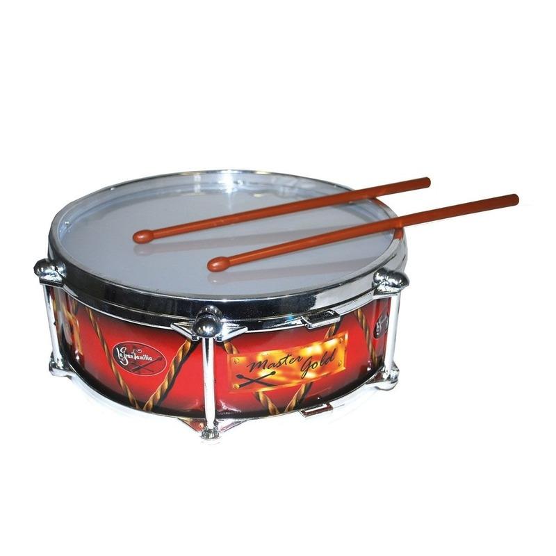 Rood drumstel met stokjes 32 cm