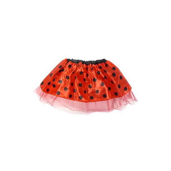 Rood lieveheersbeestje petticoat/tutu rokje voor meisjes