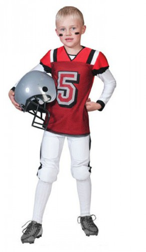 Rood met wit American Football outfit kids