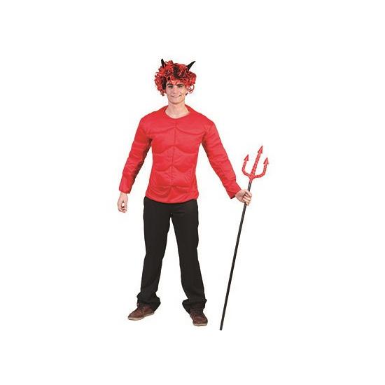 Rood spieren shirt voor volwassenen