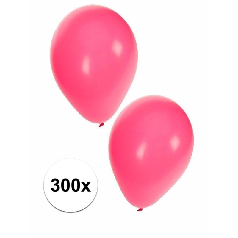 Roze ballonnen 300 stuks