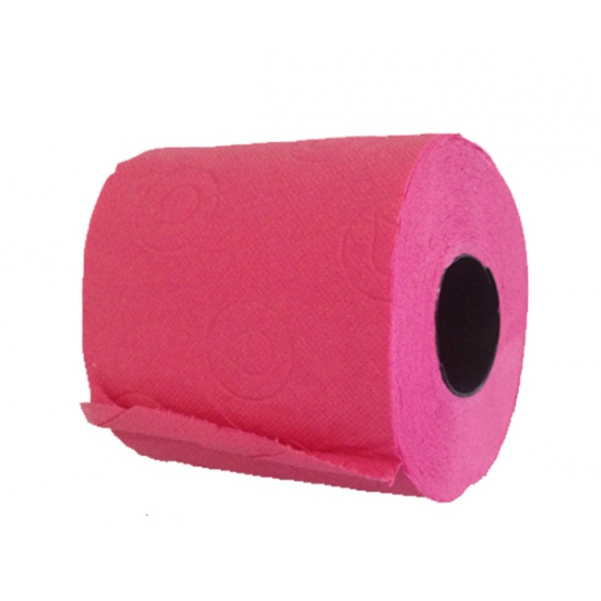 Roze decoratie toiletrol