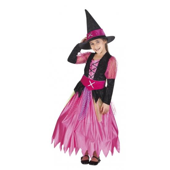 Roze heksen kostuum voor meisjes