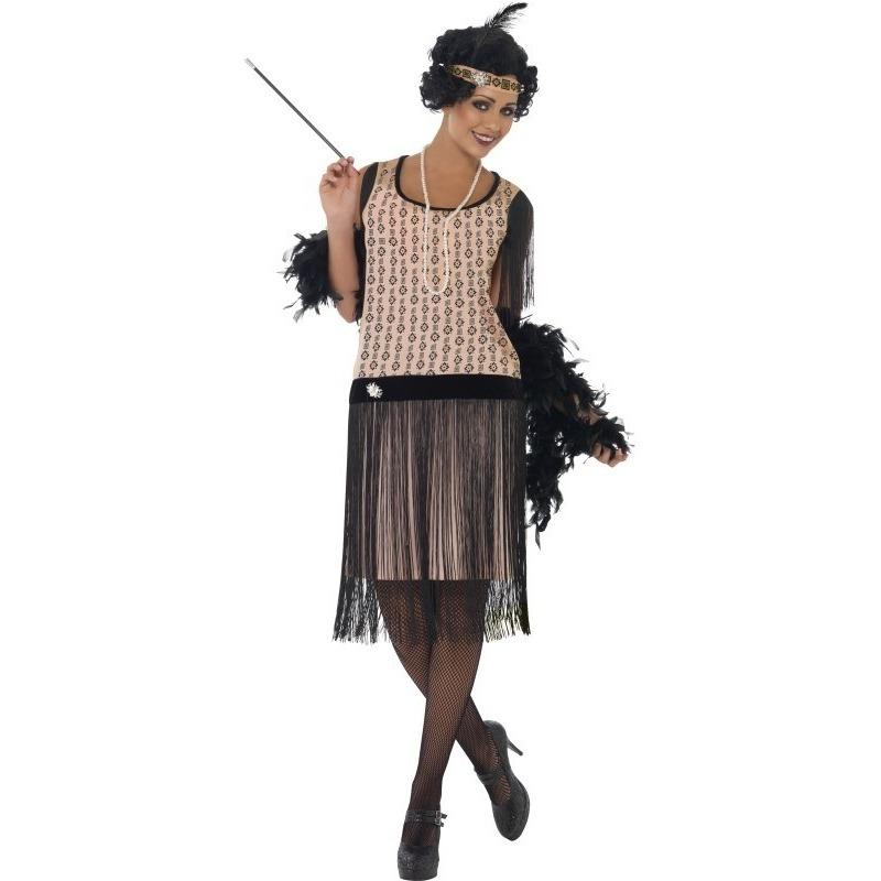 Roze jaren 20 flapper jurk voor dames