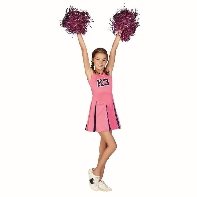 Roze K3 cheerleaderpakje voor meisjes